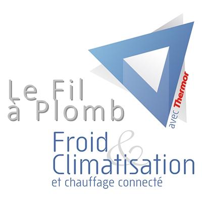 Logo du Fil à Plomb, Froid et climatisation et chauffage connecté
