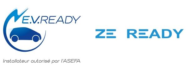 E.V. Ready - ZE Ready. Installateur autorisé par l'ASEFA. Installateur autorisé par Renault